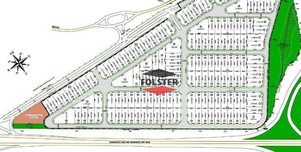 terreno à venda, 1000 m² por r$ 532.000,00 - cintec - santa bárbara d'oeste/sp - te0051