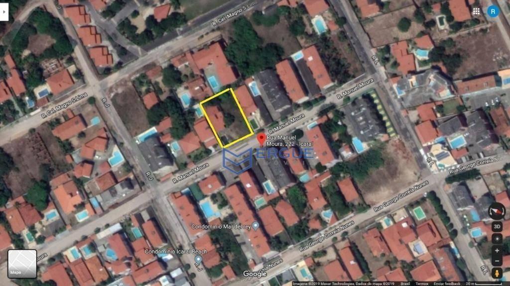 terreno à venda, 1040 m² por r$ 170.000,00 - icaraí - caucaia/ce - te0108
