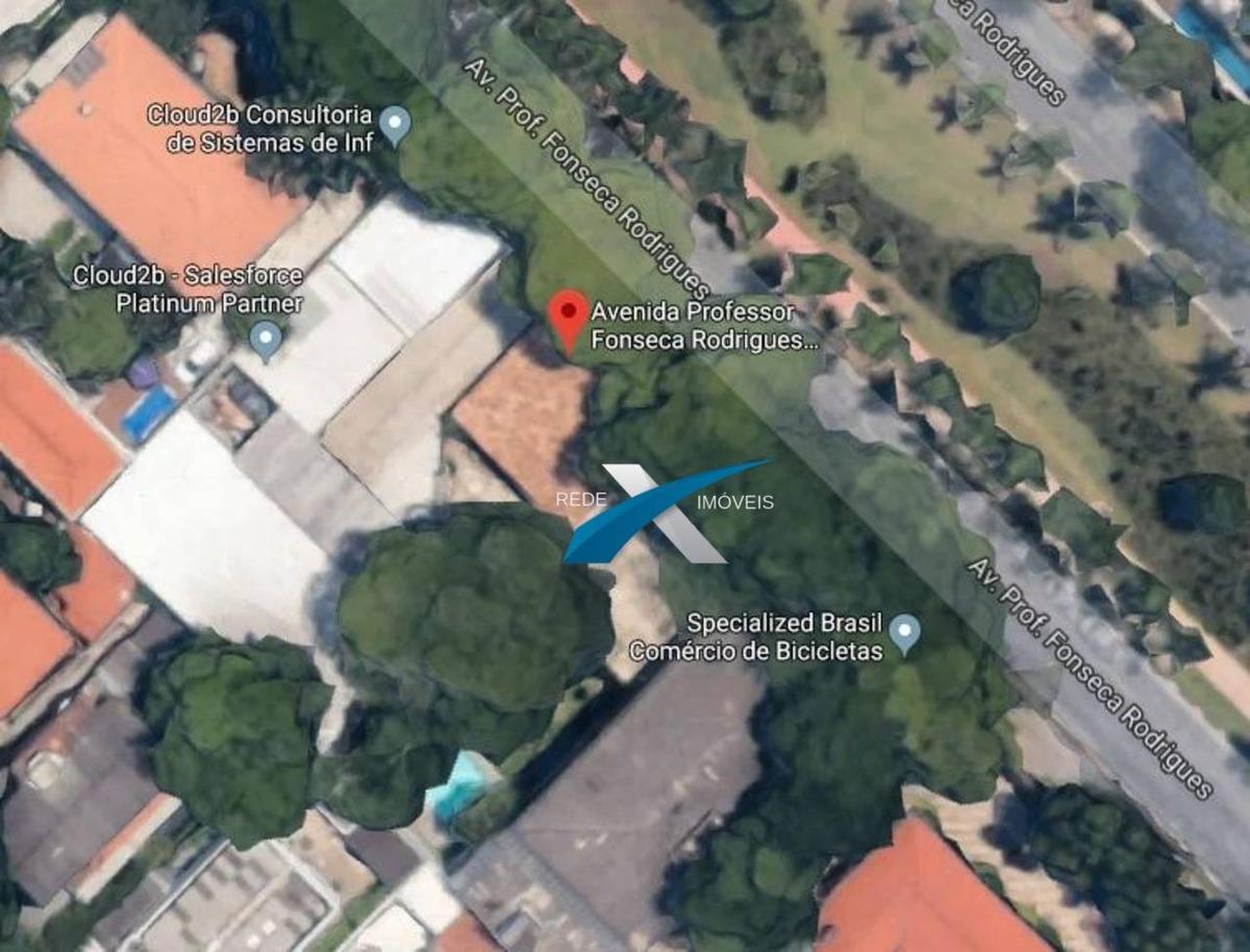 terreno à venda, 1200 m² por r$ 4.800.000,00 - alto de pinheiros - são paulo/sp - te0184