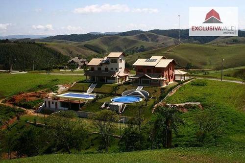 terreno à venda, 1204 m² por r$ 185.000,00 - village parahybuna - paraibuna/sp - te0119