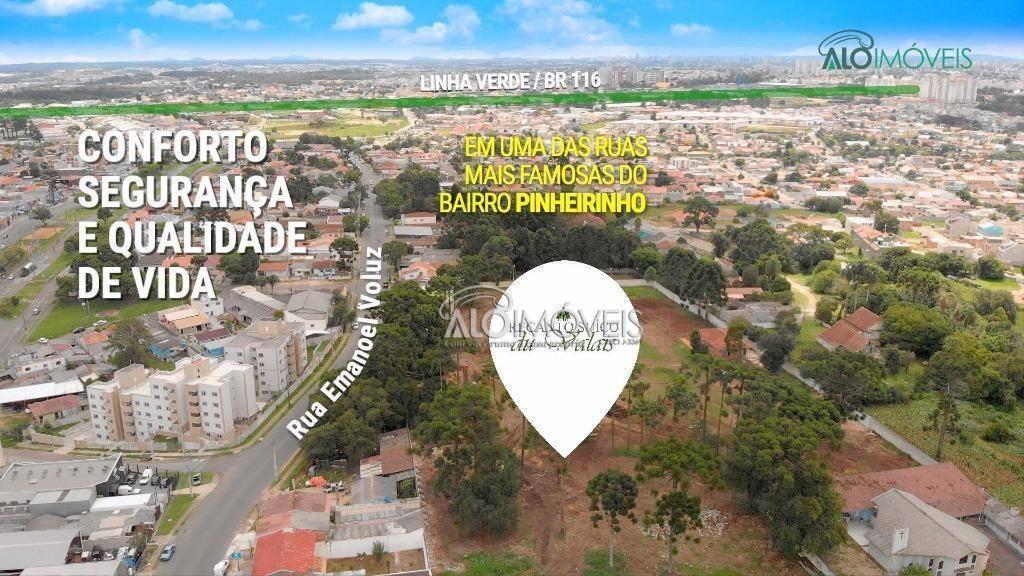 terreno à venda, 123 m² por r$ 198.066,57 - pinheirinho - curitiba/pr - te0130