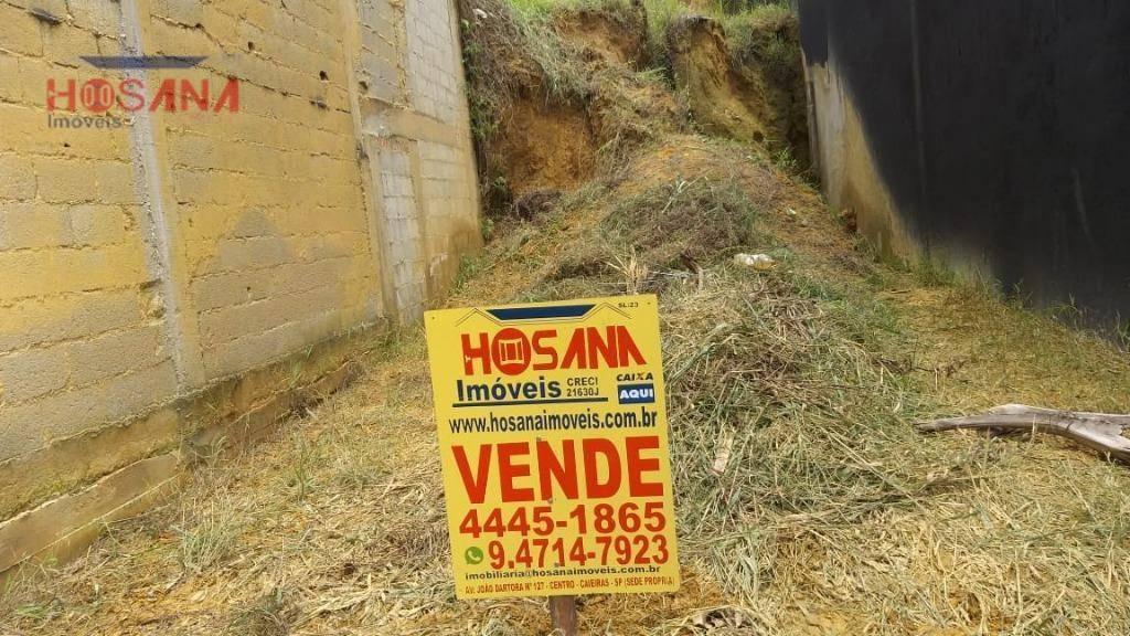 terreno à venda, 125 m² por r$ 90.000 - jardim marcelino - caieiras/sp - te0351