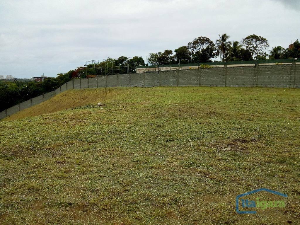 terreno à venda, 1372 m² por r$ 1.100.000,00 - alphaville ii - salvador/ba - te0023