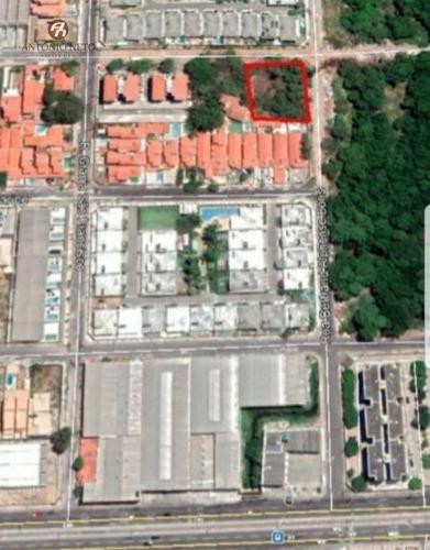 terreno à venda, 1.380 m² por r$ 619.000 - edson queiroz - fortaleza/ce, com documentação juridicamente perfeita. - te0023