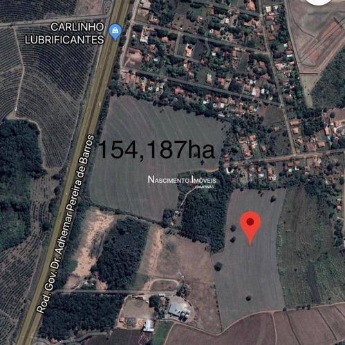 terreno à venda, 154187 m² por r$ 23.000.000 - distrito industrial ii - mogi mirim/sp - te0023