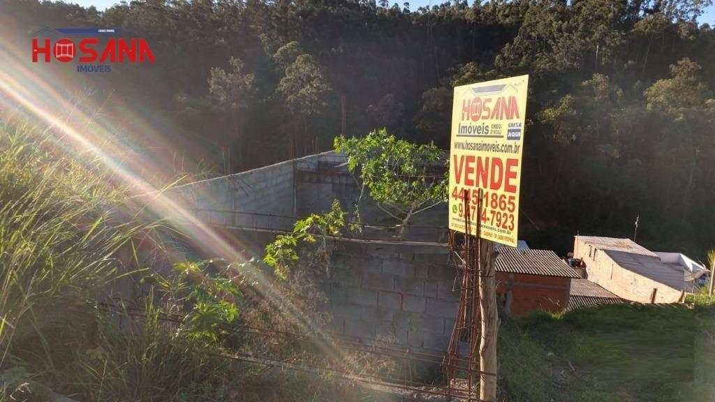 terreno à venda, 157 m² por r$ 100.000,00 - jardim vitoria - caieiras/sp - te0362