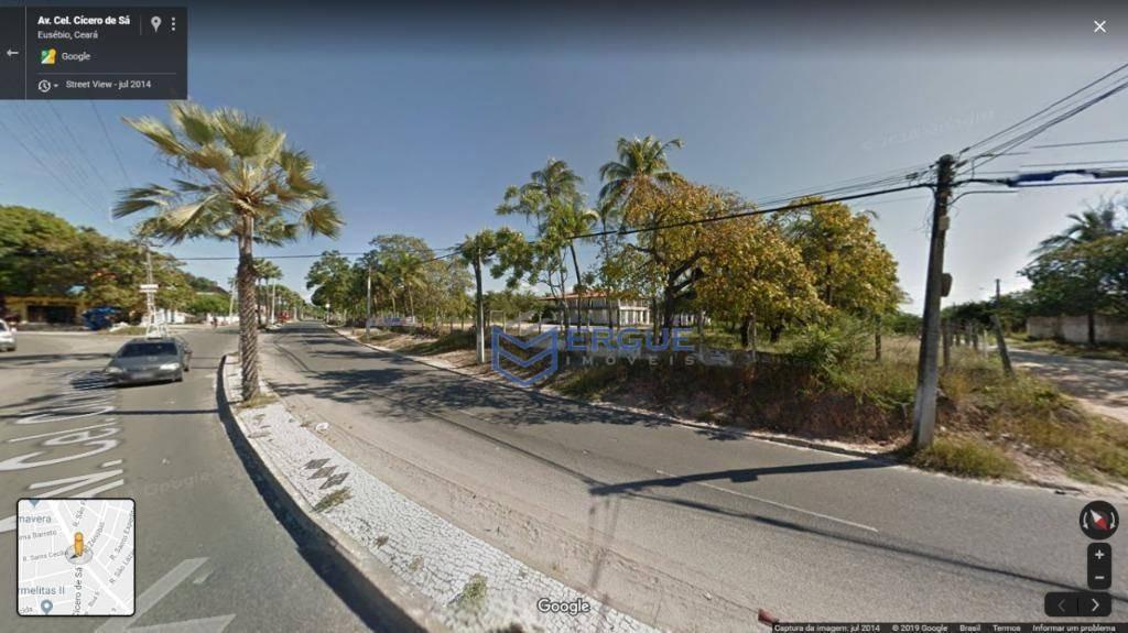 terreno à venda, 19000 m² por r$ 4.000.000,00 - centro - eusébio/ce - te0111