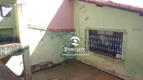 terreno à venda, 192 m² por r$ 385.000,10 - campestre - santo andré/sp - te0680