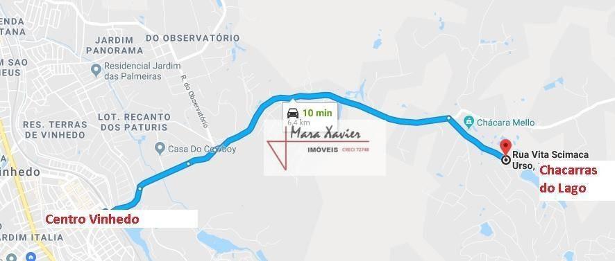 terreno à venda, 2000 m² por r$ 650.000,00 - condomínio chácaras do lago - vinhedo/sp - te0905