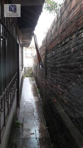 terreno à venda, 240 m² por r$ 300.000,00 - vila clarice - santo andré/sp - te0960