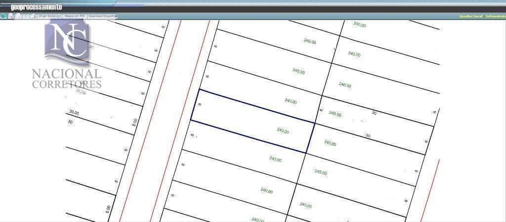 terreno à venda, 240 m² por r$ 380.000,00 - vila metalúrgica - santo andré/sp - te0956