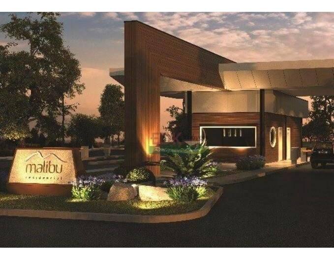 terreno à venda, 250 m² por r$ 120.000 -belissímo condomínio malibu - caçapava/sp - te1123