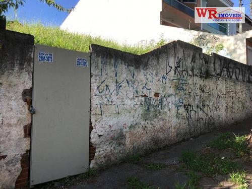 terreno à venda, 300 m² por r$ 480.000 - jardim santo ignácio - são bernardo do campo/sp - te0113