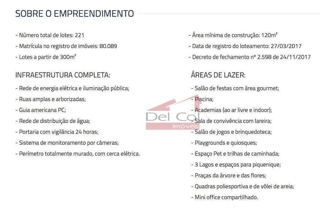 terreno à venda, 308 m² por r$ 180.000 - residencial san vitale - bragança paulista/sp - te0118