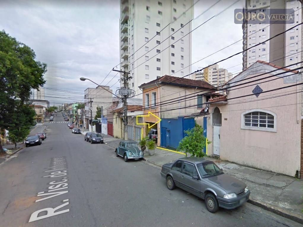 terreno à venda, 336 m² por r$ 1.225.000 - mooca - te190615v - te0135