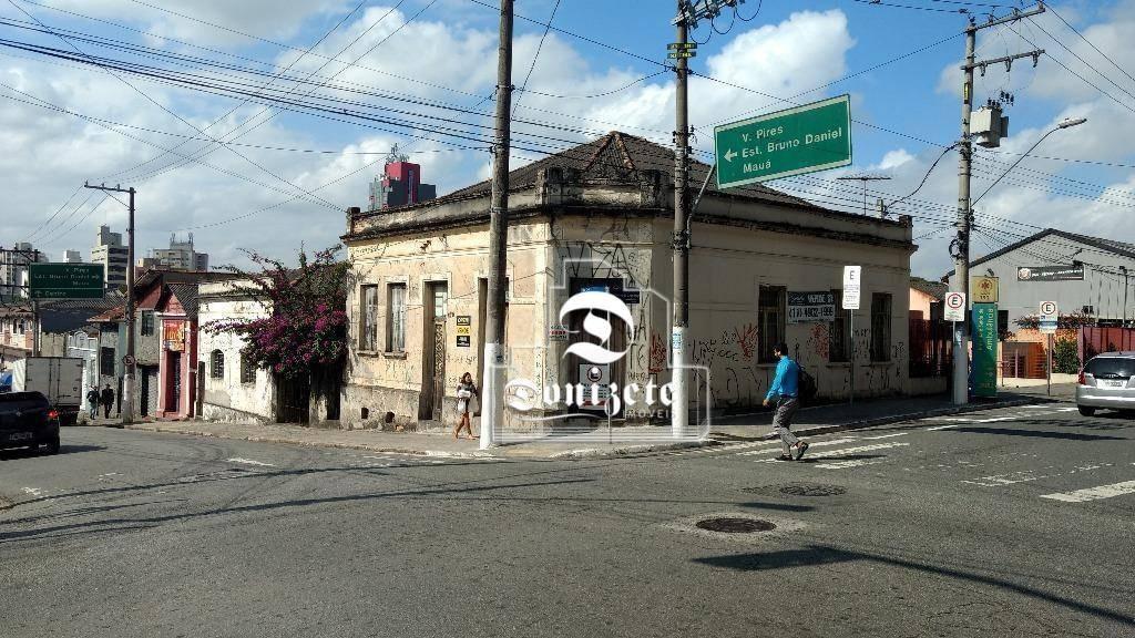 terreno à venda, 355 m² por r$ 2.249.000,10 - centro - santo andré/sp - te0633