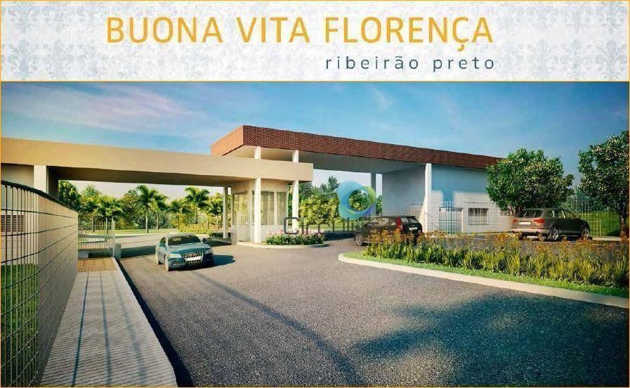 terreno à venda, 363 m² por r$ 230.000,00 - condomínio buona vita - ribeirão preto/sp - te0489