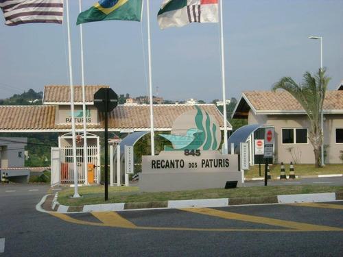 terreno à venda, 375 m² - condomínio recanto dos paturis - vinhedo/sp - te2396