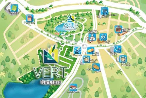 terreno à venda, 400 m², vert natureza, melhor localização, alto padrão, financia - centro - eusébio/ce - te0304