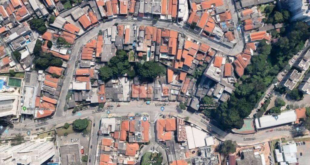 terreno à venda, 408 m² por r$ 950.000 - vila prudente - são paulo/sp - te0303