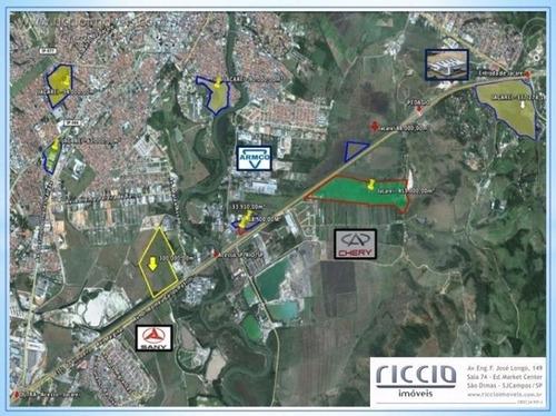 terreno à venda, 412426 m² por r$ 45.500.000,00 - villa branca - jacareí/sp - te0938