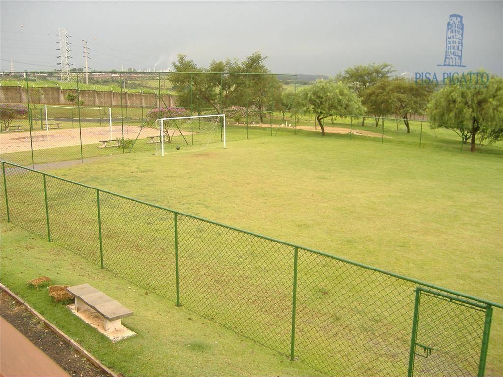 terreno à venda, 464 m² por r$ 265.000,00 - condomínio terras do fontanário - paulínia/sp - te0645