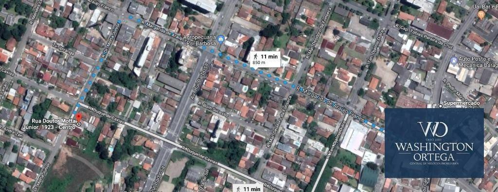 terreno à venda, 468 m² por r$ 520.000,00 - centro - são josé dos pinhais/pr - te0065