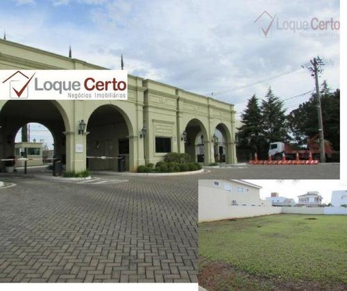 terreno à venda 490 m2, condomínio helvétia park i, indaiatuba. - te0063