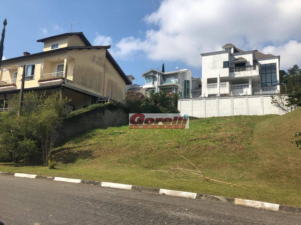 terreno à venda, 507 m² por r$ 580.000,00 - condomínio hills iii - arujá/sp - te0674