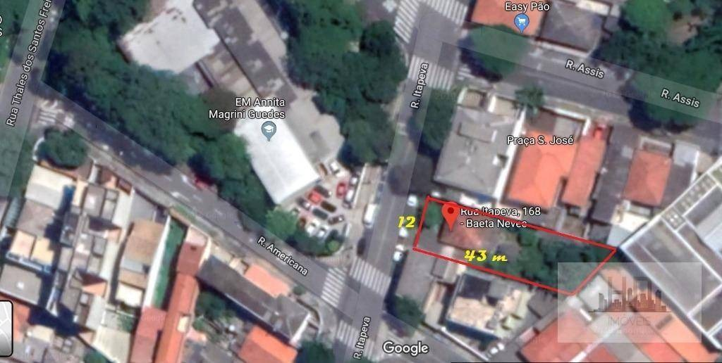 terreno à venda, 516 m² por r$ 879.900 - vila baeta neves - são bernardo do campo/sp - te0005