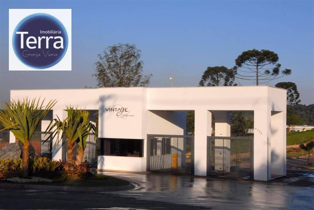 terreno à venda, 517 m² por r$ 340.000 - vintage munk - granja viana - te0724