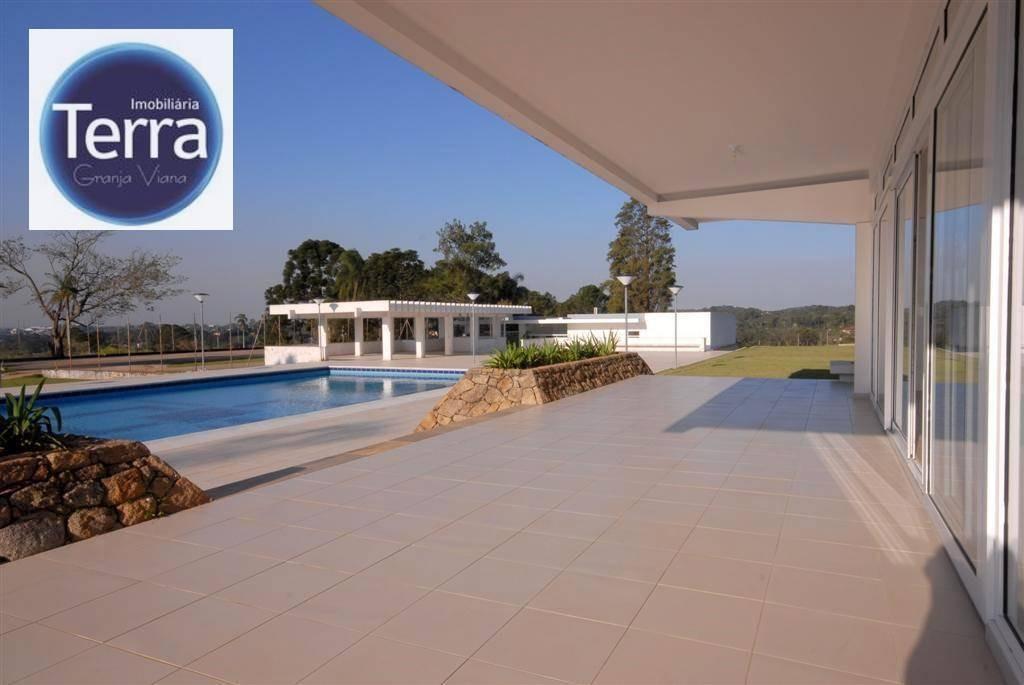 terreno à venda, 540 m² por r$ 350.000 - vintage munk - granja viana - te0723