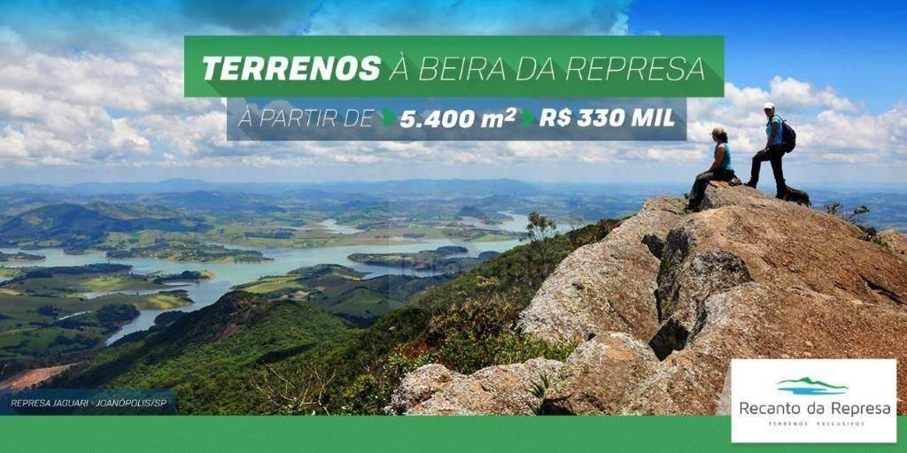 terreno à venda, 5400 m² por r$ 350.000 - da lagoa - joanópolis/sp - te1597