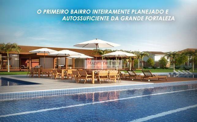 terreno à venda, 544 m² por r$ 230.000 - eusébio - eusébio/ce - te0421