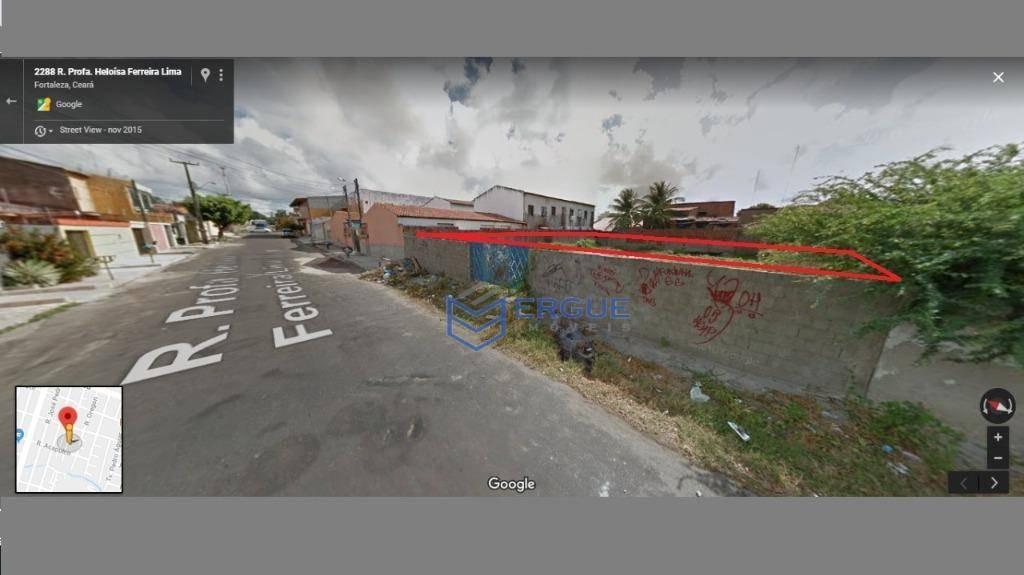 terreno à venda, 558 m² por r$ 270.000,00 - itaperi - fortaleza/ce - te0099
