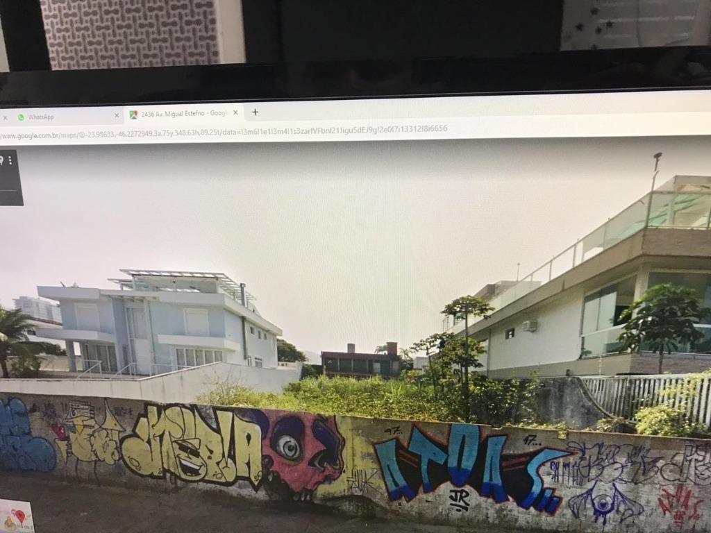 terreno à venda, 582 m² por r$ 1.200.000 - enseada - guarujá/sp - te0122