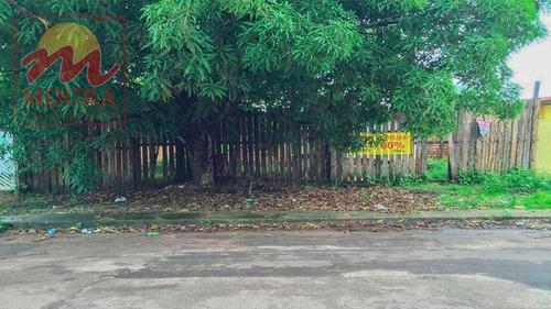 terreno à venda, 600 m² por r$ 230.000 - central - santana/ap - te0175