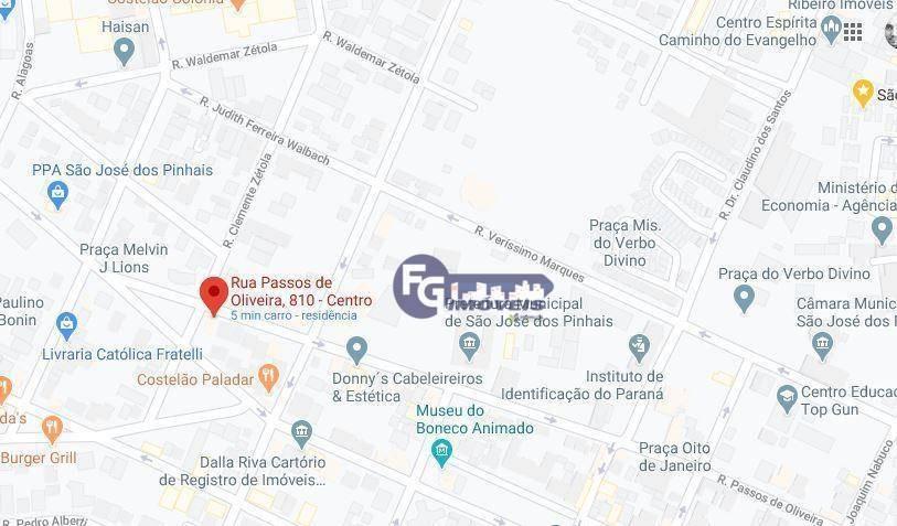 terreno à venda, 630 m² por r$ 1.729.000,00 - centro - são josé dos pinhais/pr - te0068