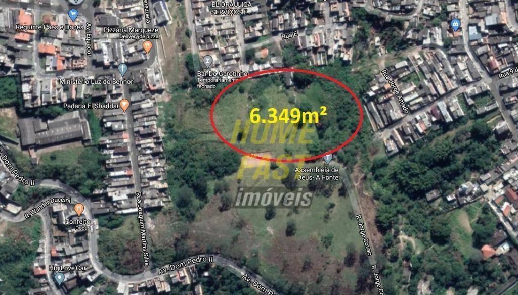 terreno à venda, 6349 m² por r$ 1.700.000,00 - jardim maria cecília - ferraz de vasconcelos/sp - te0199
