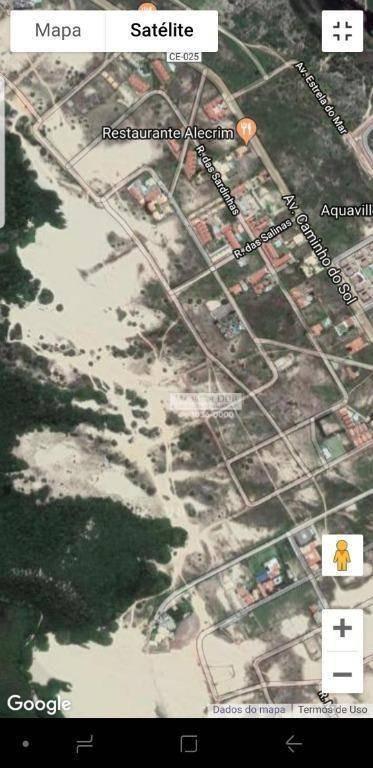 terreno à venda, 8940 m² - porto das dunas - aquiraz/ce - te0426