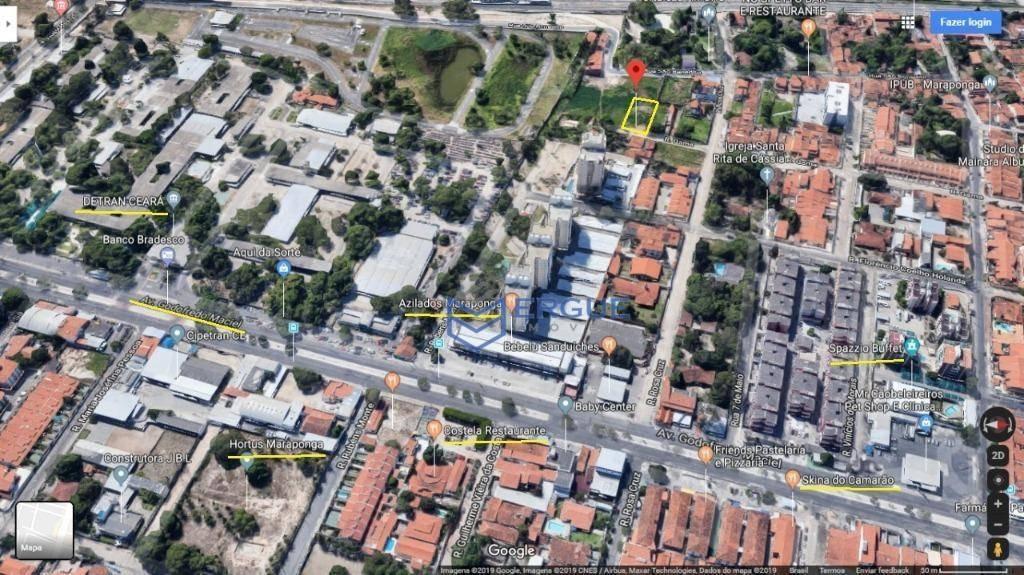 terreno à venda, 968 m² por r$ 480.000 - maraponga - fortaleza/ce - te0117