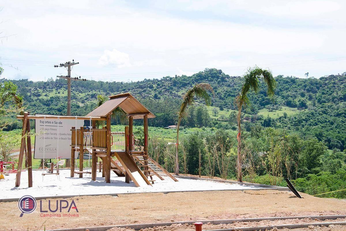 terreno à venda com excelente topografia no condomínio ecovilla valinhos - te0445