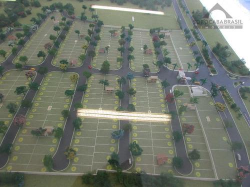 terreno à venda, condomínio terras de são francisco em sorocaba-sp, área total 160 m². - te0090