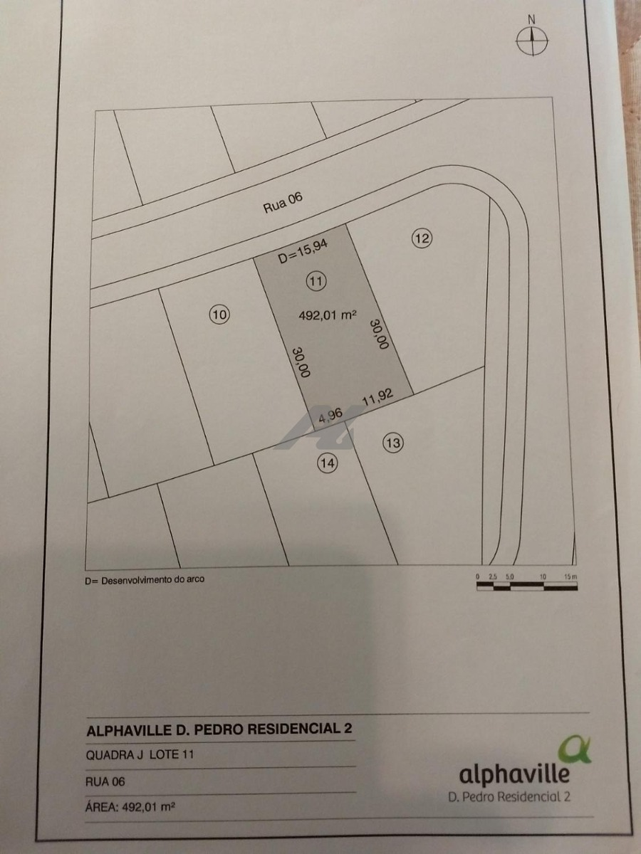 terreno à venda em alphaville dom pedro - te004112