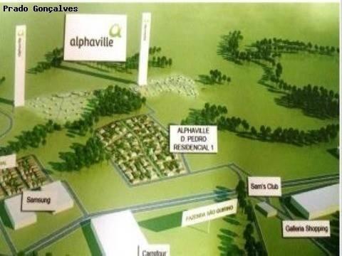 terreno à venda em alphaville dom pedro - te122090
