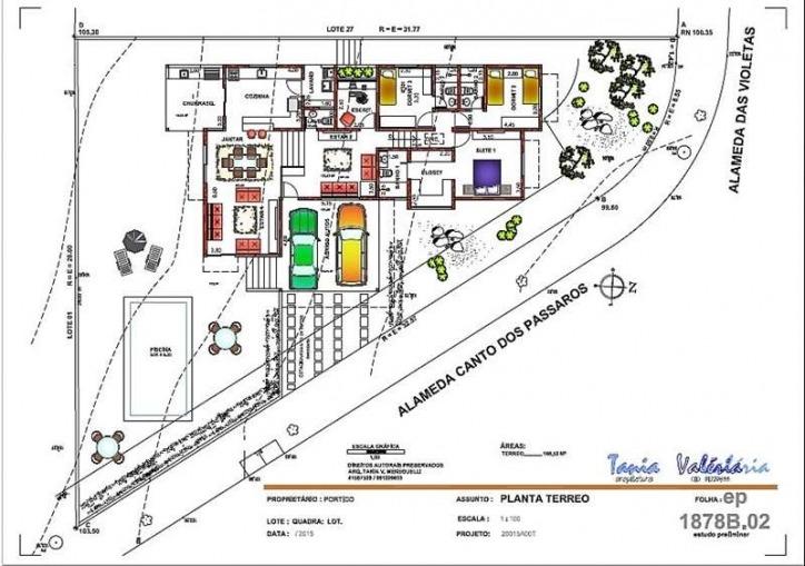 terreno à venda em condomínio fechado - cotia - silva 78255