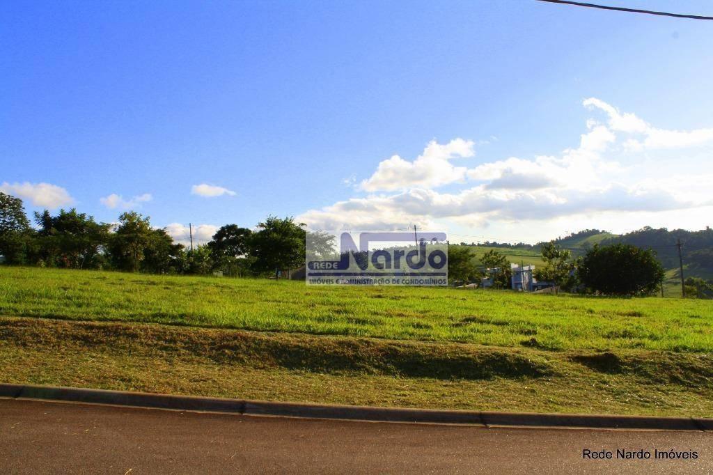 terreno à venda no condomínio terras de santa cruz, bragança paulista, campo novo - te0084