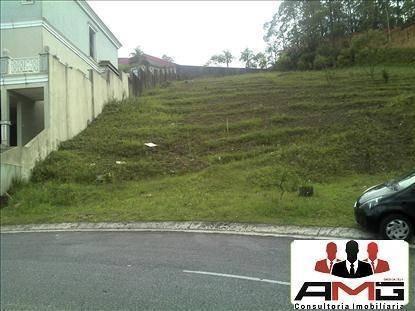 terreno à venda no swiss park, condomínio fechado, em são bernado do campo - te0001