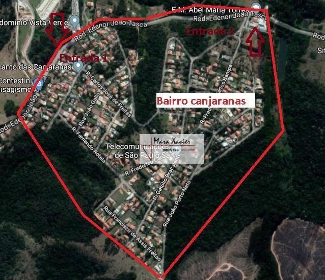 terreno venda, residencial recanto dos canjaranas, vinhedo - te0785. - te0785