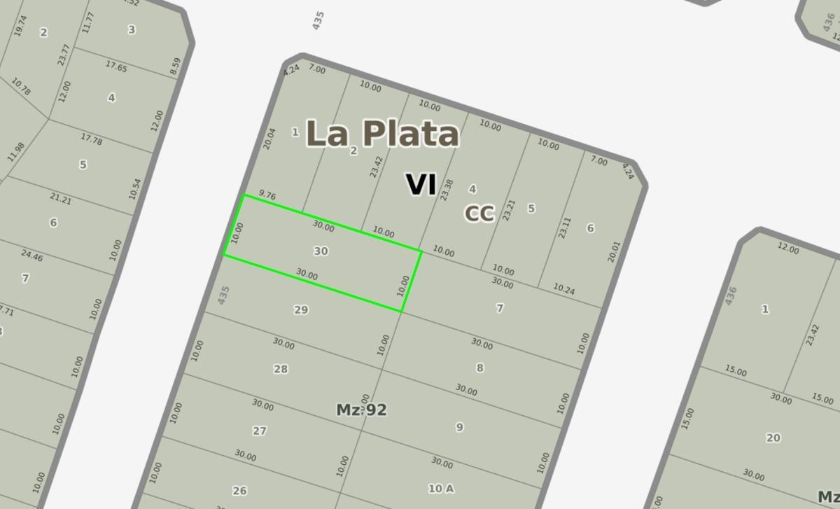 terreno venta -10 x 30 mts  -300 mts 2 - villa elisa